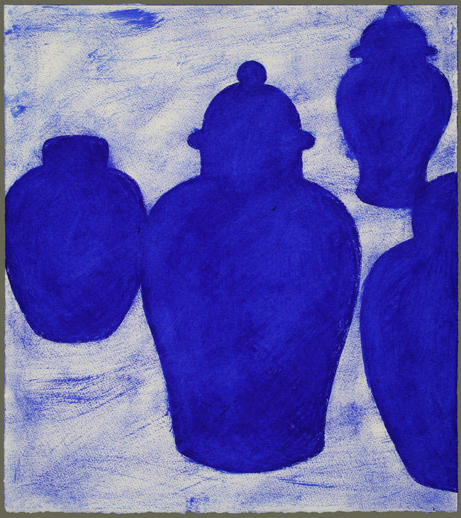 Four French Ultramarine Ginger Jars