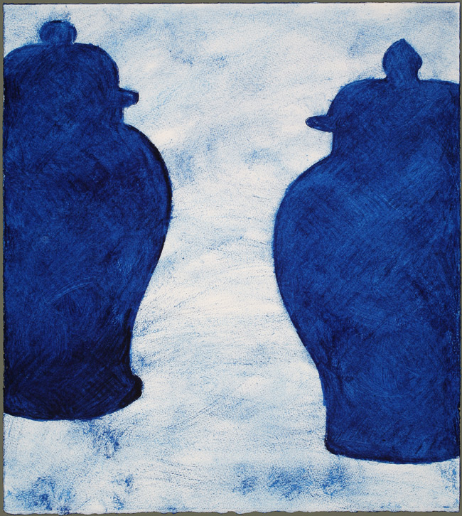 Two Prussian Blue Ginger Jars #1